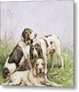 A Group Of French Hounds Metal Print