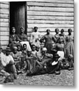 A Group Of Slaves Metal Print