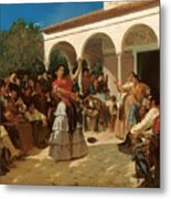 A Gypsy Dance In The Gardens Of Alcazar Metal Print