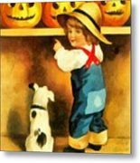 A Happy Halloween Puppy Metal Print
