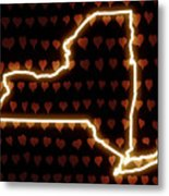 A Heart In New York Metal Print