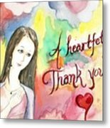 A Heartful Thank You Metal Print