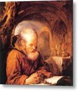 A Hermit Praying 1670 Metal Print