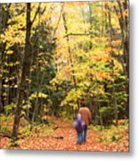 A Hike Into The Forest Metal Print