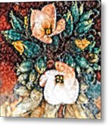 A Holiday Bouquet Metal Print