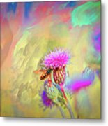 A Hoverfly On Abstract #h3 Metal Print