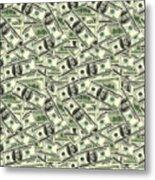 A Hundred Dollar Bill Banknotes Metal Print