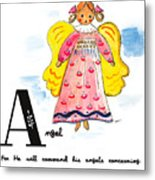 A Is For Angel Metal Print