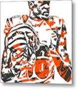 A J Green Cincinnati Bengals Pixel Art 5 Metal Print