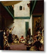 A Jewish Wedding In Morocco Metal Print by Ferdinand Victor Eugene Delacroix