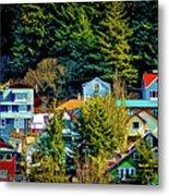 A Juneau Hillside  Metal Print