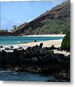 A L O H A  E Ala E Puu Olai Oneloa Big Beach Makena Maui Hawaii Metal Print