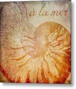 A La Mer Nautilus Metal Print
