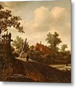 A Landscape With A Figure On A Path And A Bleaching Metal Print