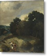 A Landscape With Tobias And The Angel Metal Print
