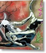 A Life Long Battle To Stay Alive Metal Print by Tai Taeoalii
