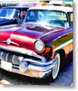 A Line Of Classic Antique Cars 9 Metal Print