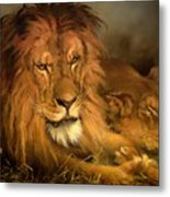 A Lion And A Lioness Metal Print