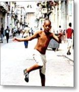 A Little Bit Of Cuba - 8 Metal Print