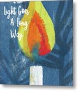 A Little Light- Art By Linda Woods Metal Print
