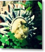 A Little Piece Of Sunshine In Ma's Garden Metal Print