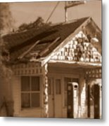 A Little Weathered Gas Station Metal Print