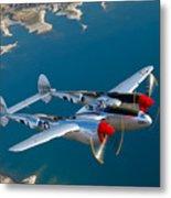 A Lockheed P-38 Lightning Fighter Metal Print