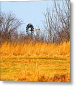 A Lonely Windmill Metal Print