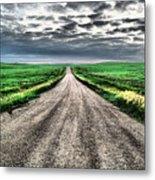 A Long Dakota Road Metal Print