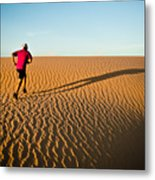 A Long Desert Run Metal Print