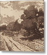 A Long Island Road Metal Print