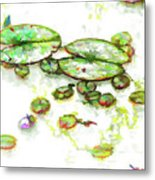 A Lotus Leaf Metal Print