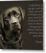 A Loving Dog Metal Print