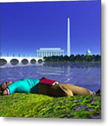 A Lunch Break On The Potomac Metal Print