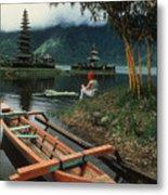 A Magic Moment On The Island Of Bali Metal Print