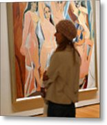 A Maid And Les Demoiselles D'avignon Metal Print by Frank Winters