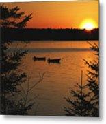 A Maine Sunset Metal Print