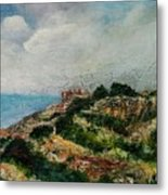 A Maltese Country Landscape Metal Print