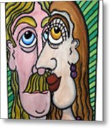 A Man And A Woman With Brown Eyes... - Un Homme Et Une Femme Aux Yeux Bruns... Metal Print