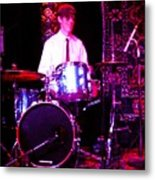 A Man And His Drums Metal Print