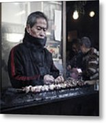 A Man And His Grill Metal Print