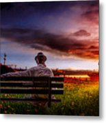 A Man And His Hat Metal Print