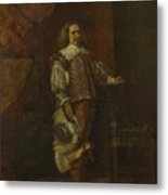 A Man In   Th Century Spanish Costume Metal Print
