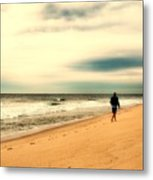 A Man's Serenity - Jersey Shore Metal Print