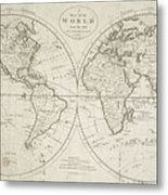 A Map Of The World From The Best Authorities Metal Print