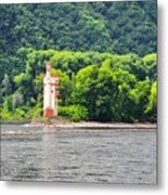 A Medieval Castle on the Rhine Metal Print