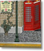 A Merry Old Corner In London Metal Print