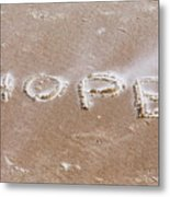 A Message On The Beach Metal Print
