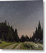 A Meteor And The Big Dipper Metal Print