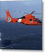 A Mh-65c Dolphin Helicopter Metal Print